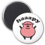 haaapy - happy pig magnets