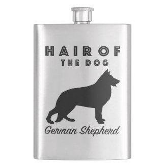Haar des Hundes - Schäferhund-Flasche Flachmann