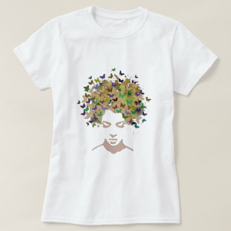 Haar des Schmetterlings-T - Shirt