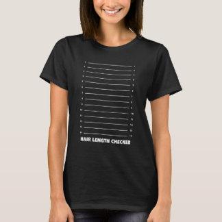 Haar-Längen-Schachbrett-lustiger grafischer T - T-Shirt