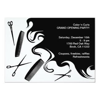 Haar-Salon-großartige Öffnungs-Party Einladung