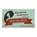 Haar-SalonHairstylist - Vintage Verabredungs-Karte Visitenkarte