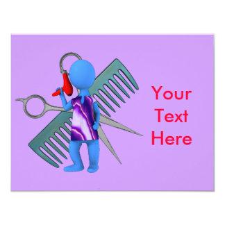 Haar-Stylist 10,8 X 14 Cm Einladungskarte