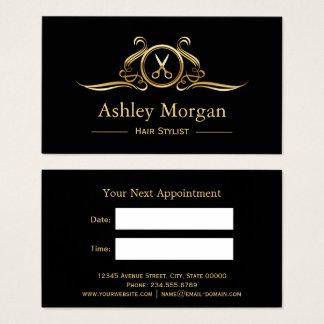 Haar-Stylist-Gold Scissors Visitenkarte