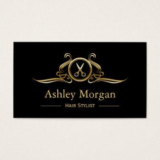 Haar-Stylist-Gold Scissors Visitenkarten