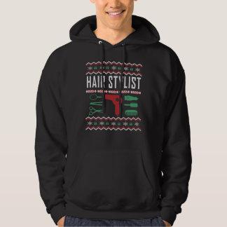 Haar-Stylist-hässliche Weihnachtsstrickjacke Hoodie