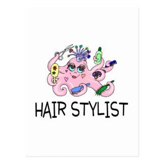 Haar-Stylist-Krake Postkarte