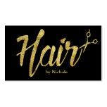 Haar-Stylist-moderne Goldskript-Salon-Verabredung Visitenkarten