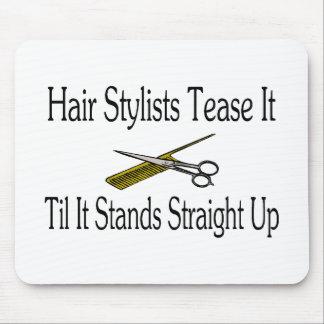 Haar-Stylist necken es, bis es gerade oben steht Mauspads