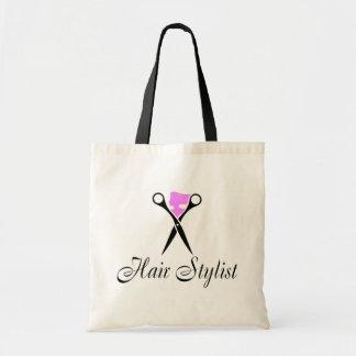 Haar-Stylist (Rosa/Scheren) Budget Stoffbeutel