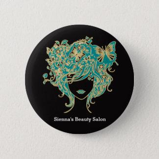 Haar-Stylist Runder Button 5,7 Cm