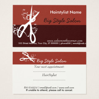 Haar-Stylist-Salon-COOLES Visitenkarte