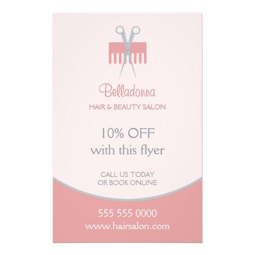 Haar-Stylist-Schönheits-Salon-Flyer