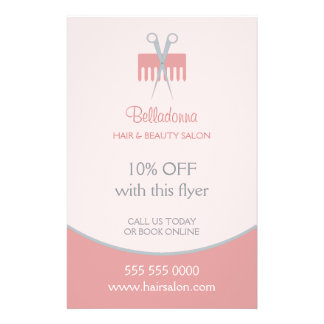 Haar-Stylist-Schönheits-Salon-Flyer 14 X 21,6 Cm Flyer