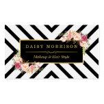 Haar-Stylist-Schönheits-Salon-GoldVintages Blumen Visitenkarten