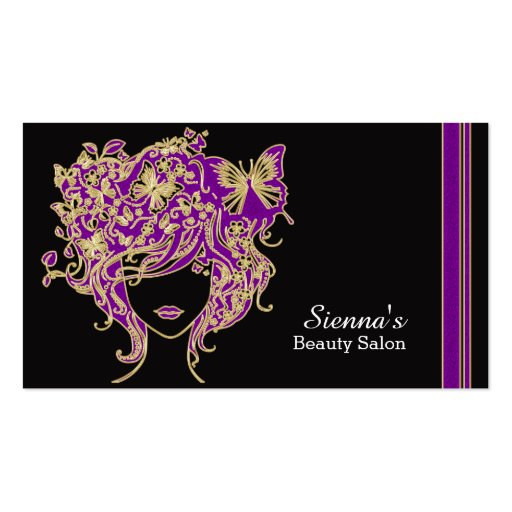 Haar-Stylist-Verabredungskarte Visitenkarten Vorlage