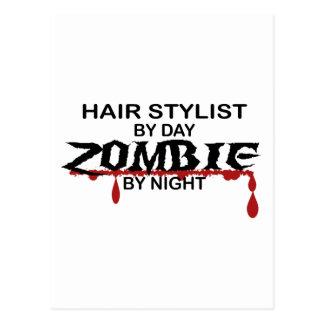 Haar-Stylist-Zombie Postkarte