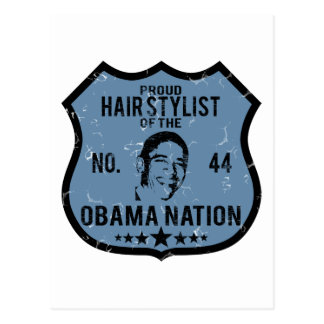 Haar-Stylistobama-Nation Postkarte