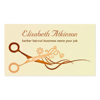 Haarfriseurhaarschnitt-Stylist-Geschäftskarte Visitenkarte