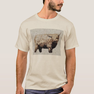 Haariger Hochland-Stier-T - Shirt