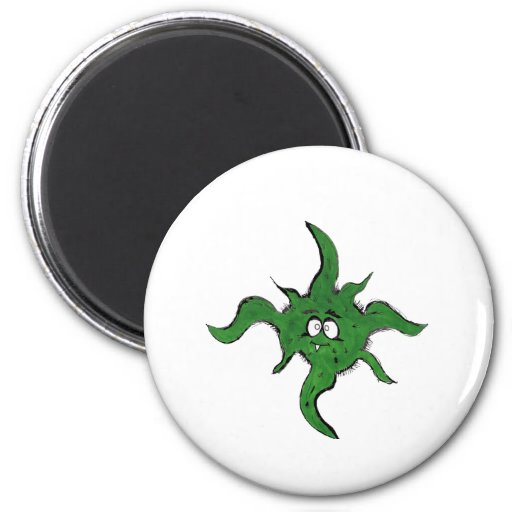 Haariges Monster Magnets