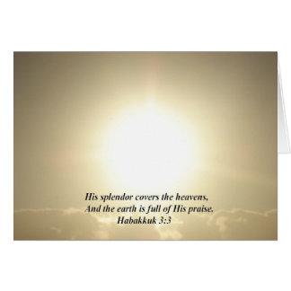 """Habakkuk 3:4"" durch Carter L. Shepard Karte"