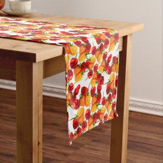 Habanero-Paprika-rote Paprikaschoten-orange heiße Mittelgroßer Tischläufer
