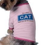 Habe ich Katze… Haustier-Shirt Haustierhemd