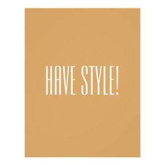 Haben Sie Art-Hipster-Datei 21,6 X 27,9 Cm Flyer