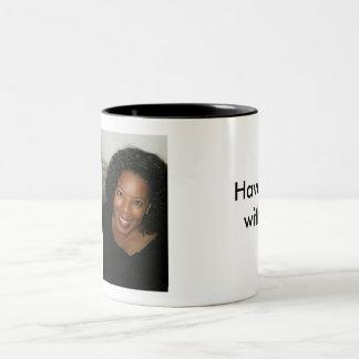 Haben Sie Coffe mit mir! Zweifarbige Tasse
