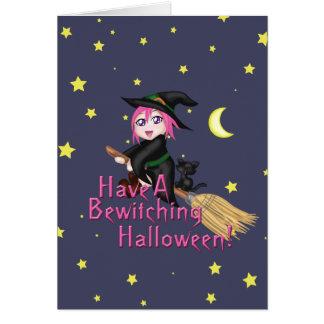 Haben Sie ein bezauberndes Halloween! Karte
