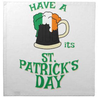 Haben Sie ein BIER sein Tag St. Patricks Stoffserviette