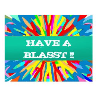 HABEN SIE EIN BLASST: Editable Text ersetzen Ihre  Postkarte