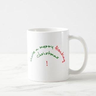 haben Sie ein fröhliches scharendes Weihnachten Kaffeetasse