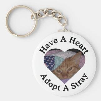 Haben Sie ein Herz, adoptieren Sie ein Schlüsselanhänger