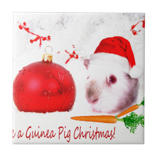 Haben Sie ein Meerschweinchen-Weihnachten Keramikfliese