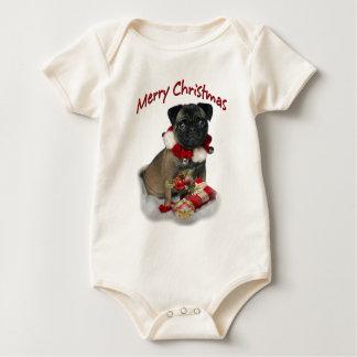 Haben Sie ein Puggle frohe Weihnacht-Kleid Baby Strampler