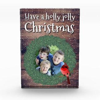 Haben Sie ein Stechpalmen-lustiges Weihnachten - Fotoblock