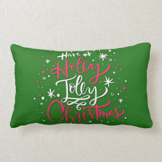 Haben Sie ein Stechpalmen-lustiges Weihnachten Lendenkissen