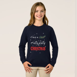 Haben Sie ein Stechpalmen-lustiges Weihnachten Sweatshirt