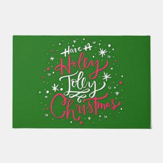 Haben Sie ein Stechpalmen-lustiges Weihnachten Türmatte