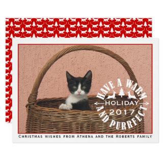 Haben Sie ein warmes und rotes Haustier purrfect 12,7 X 17,8 Cm Einladungskarte