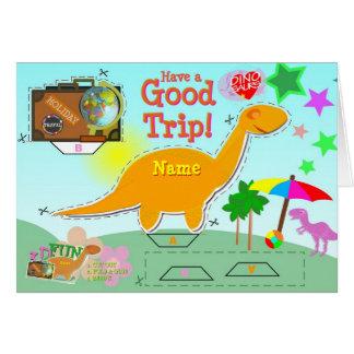 Haben Sie eine gute Reise-Dinosaurier-Karte Karte