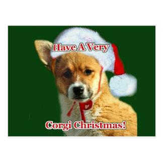 Haben Sie eine sehr Corgi-Weihnachtsgnade Postkarte