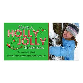 Haben Sie eine Stechpalmen-lustige Weihnachtskunde Photokarten