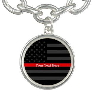 Haben Sie eine Text-dünne rote Linie Armbänder