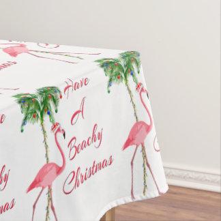 Haben Sie einen Beachy Weihnachtsflamingo Tischdecke