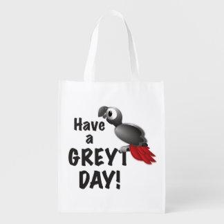 Haben Sie einen Greyt Tag - großen afrikanisches Wiederverwendbare Einkaufstasche
