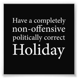 Haben Sie einen politisch korrekten Feiertag Kunstphoto