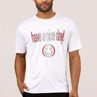 Haben Sie einen schönen Tag! Kanada-Flaggen-Farben T-Shirt